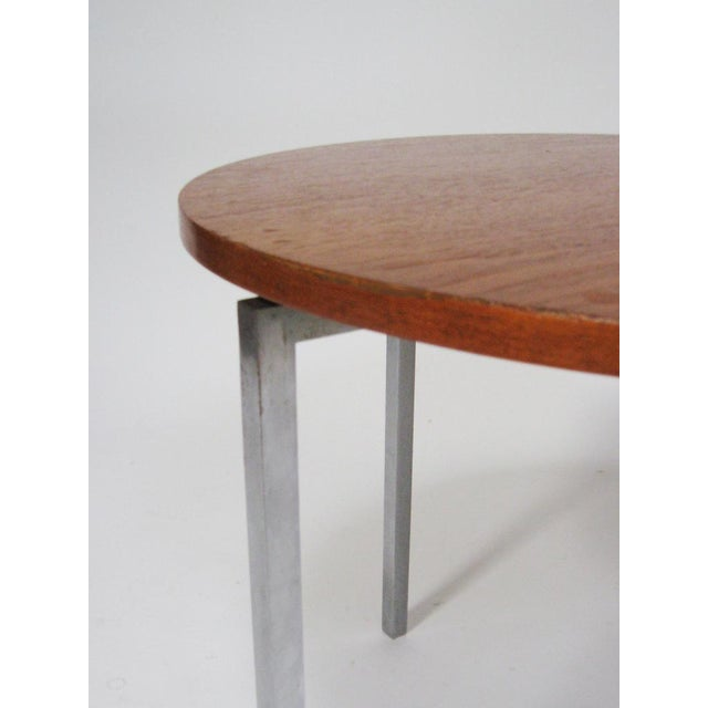 Metal Florence Knoll side/ end table by Knoll For Sale - Image 7 of 8