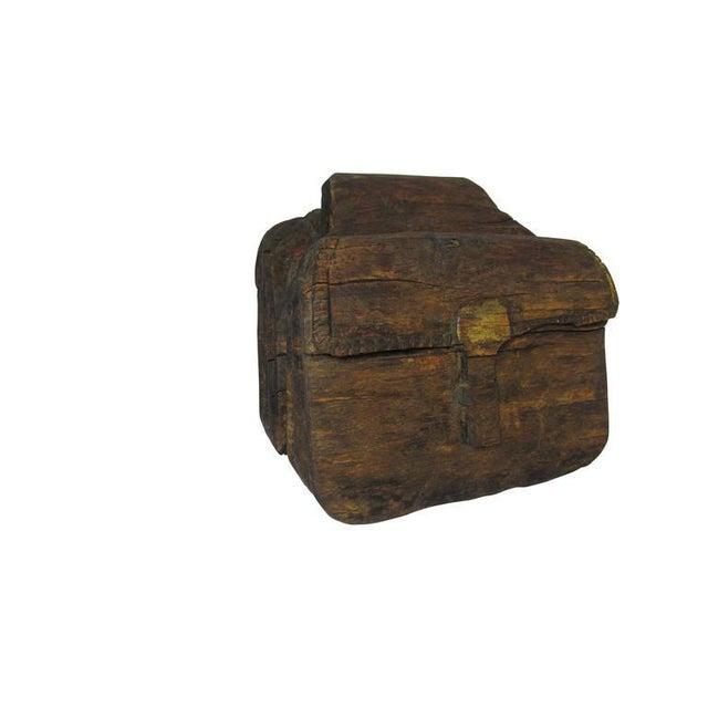 """Ol' Saddle Bags"" hand-carved Folk Art saddle bag sculpture from Oklahoma signed ""R. Soloman""."