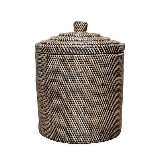 Rattan Basket With Top - Image 1 of 3
