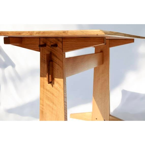 Japanese Style Trestle Table & Bench - A Pair - Image 4 of 11