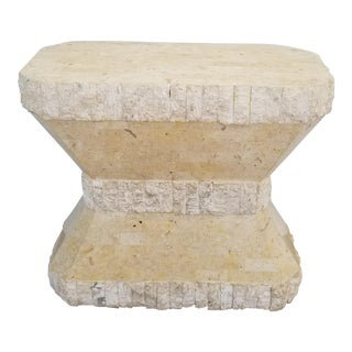1980s Brutalist Maitland Smith Tessellate Stone Dining Table Base For Sale