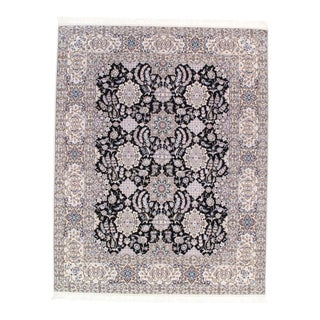 Pasargad NY Persian Hand-Knotted Lamb's Wool & Silk Rug - 6′5″ × 8′2″ For Sale