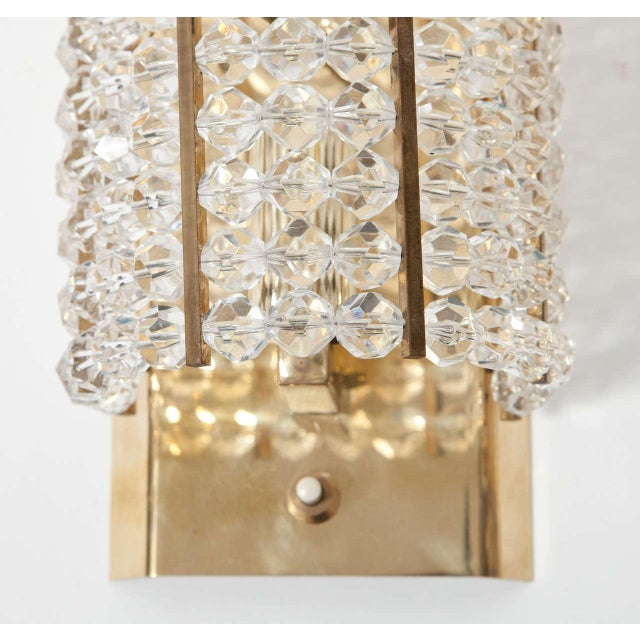 Mid-Century Modern Lucite and Brass Sconces - A Pair For Sale - Image 3 of 6