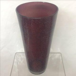 Mid-Century Purple Murano Pulegoso Vase Preview