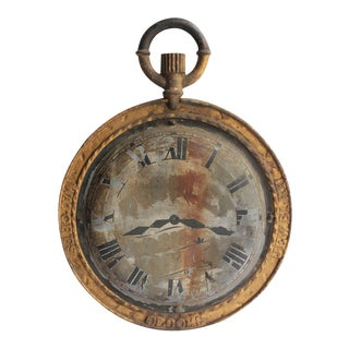 19th Century American Double Sided Watch Maker Trade Sign For Sale