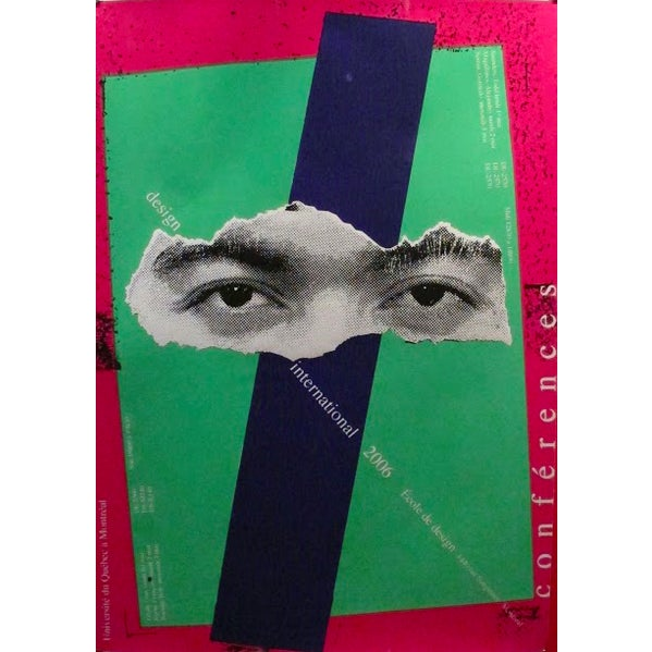 Contemporary 2006 Original Design Conference Poster, Eyes - Alfred Halasa For Sale - Image 3 of 3