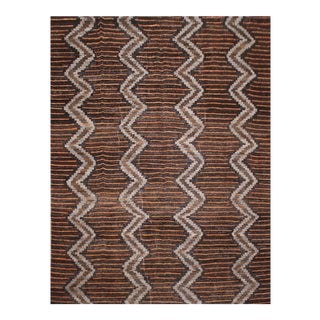 """Hand Knotted Navajo Style Rug - 9'0"""" X 12'0"""" For Sale"""