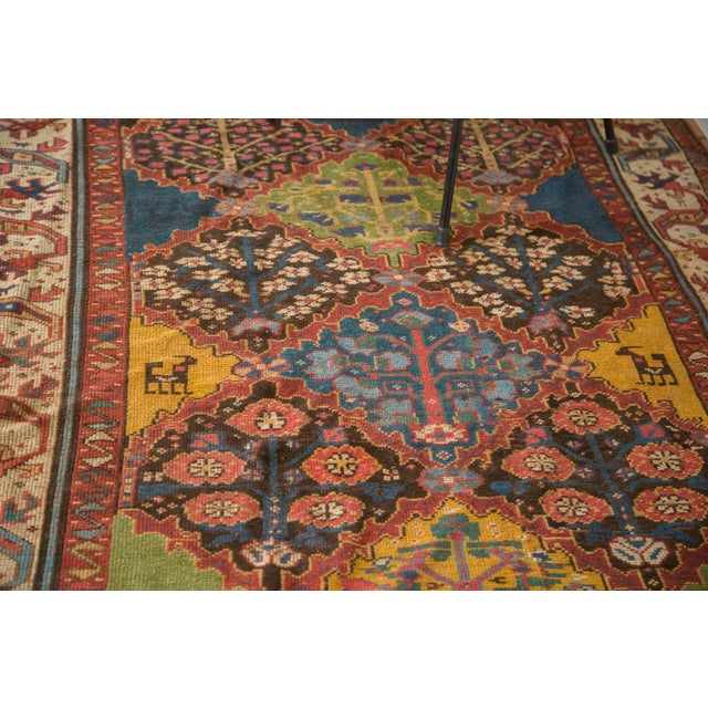 "Vintage Colorful Turkish Melas Rug - 4'6"" X 7' - Image 4 of 9"