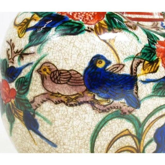 Antique Kutani Floral Vase For Sale - Image 9 of 11