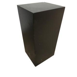 "41"" Tall Modernist Black Monolith Fiberglass Pedestal For Sale"