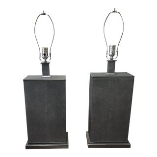Restoration Hardware Shagreen Lamps - a Pair For Sale