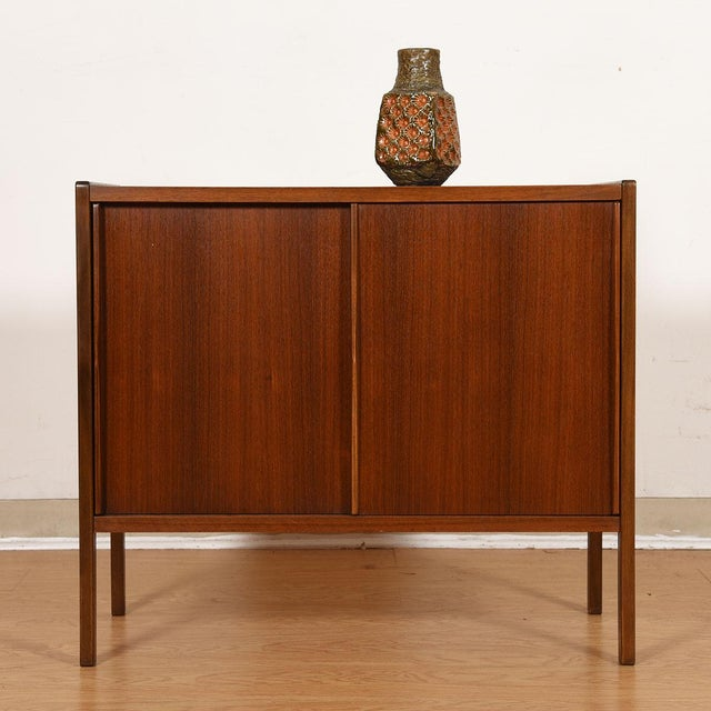 Compact Mid-Century Swedish Modern Cabinet in Walnut by Dux For Sale - Image 9 of 13