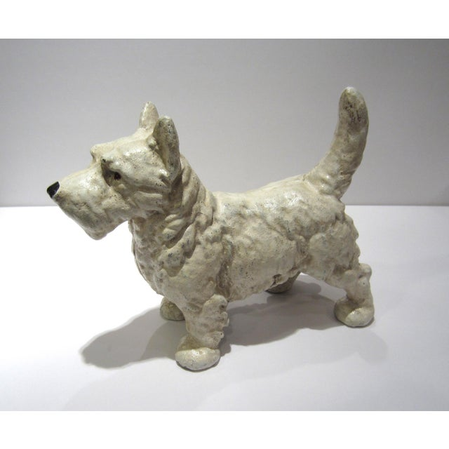 English Traditional Cast Iron West Highland Terrier Doorstop For Sale - Image 3 of 9