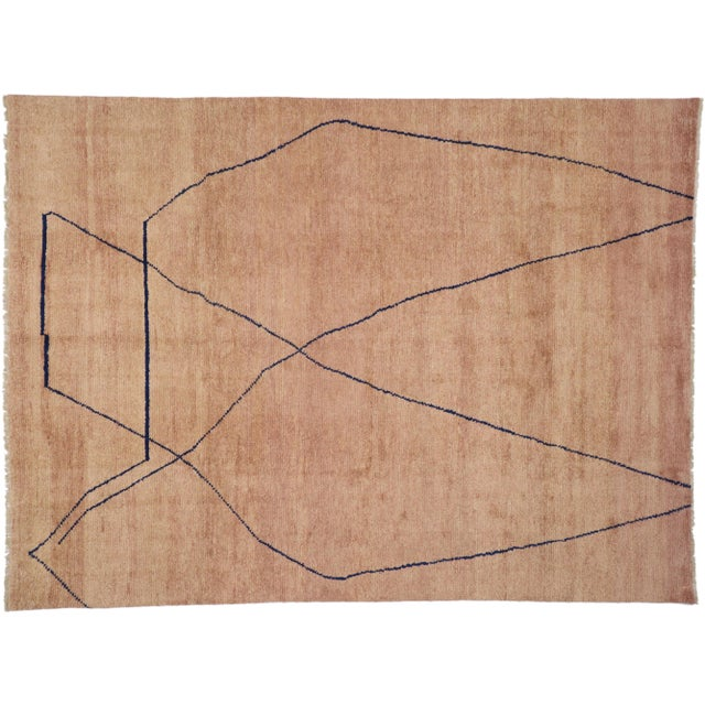 Moroccan Contemporary Rug - 10'00 X 13'06 For Sale - Image 9 of 10