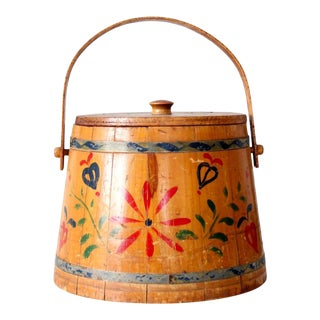 Antique Painted Sugar Bucket For Sale