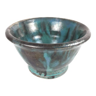 Glen Lukens Ceramic Blue Glazed Bowl