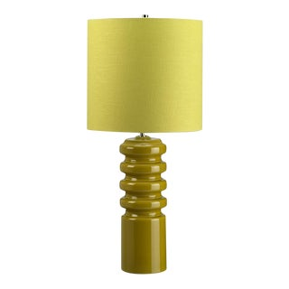 Mid-Century Modern Contour Lime Table Lamp For Sale