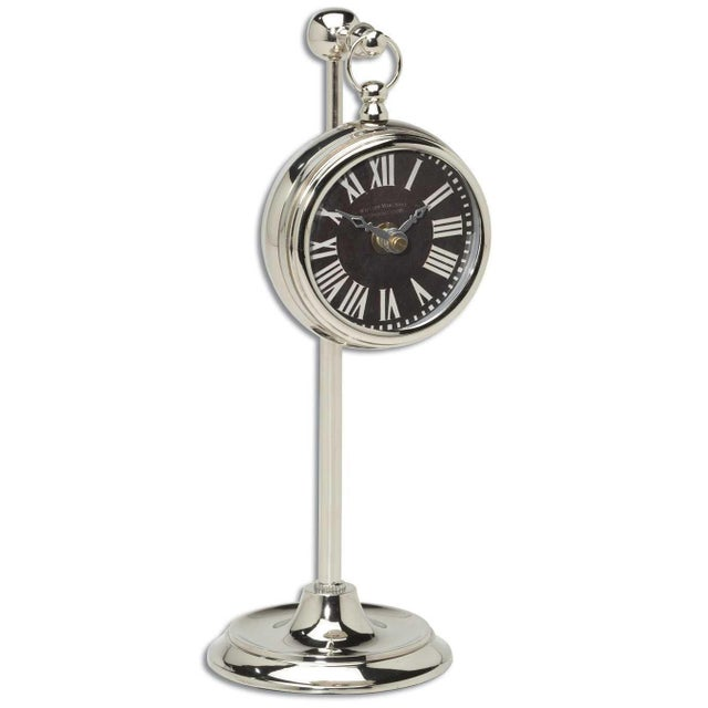 Traditional Uttermost Pocket Watch With Stand For Sale - Image 3 of 3