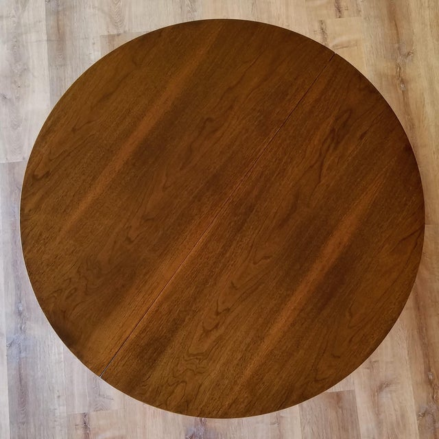 1960s Broyhill Brasilia Round Dining Table For Sale - Image 9 of 13