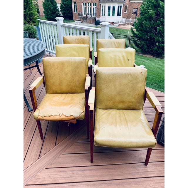 Pleasing Vintage Mid Century Gunlocke Lounge Dining Chairs Chairish Gmtry Best Dining Table And Chair Ideas Images Gmtryco
