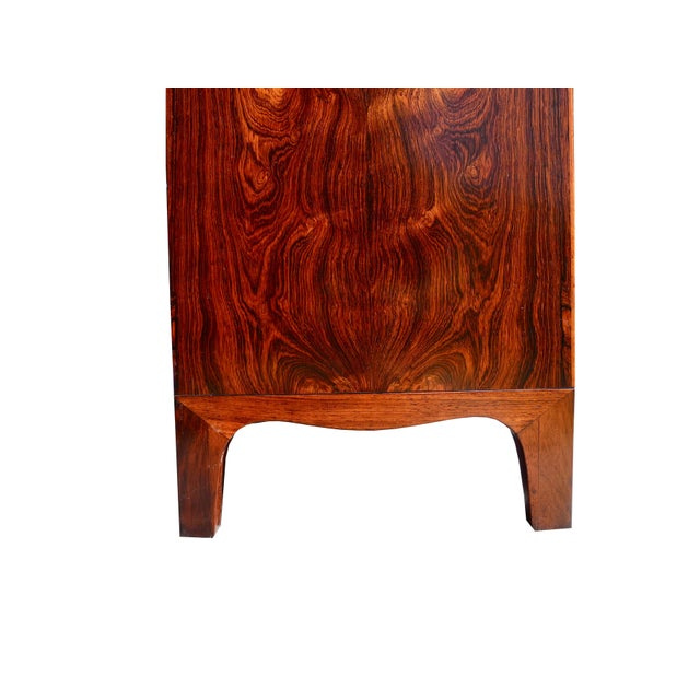 Ole Wanscher Danish Modern Tall Rosewood Bombe Dresser / Gentleman's Chest by Ole Wanscher For Sale - Image 4 of 12