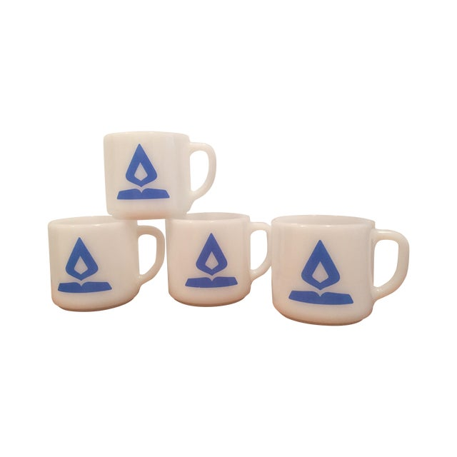 Vintage Fire King Milk Glass Mugs - Set of 4 - Image 1 of 6
