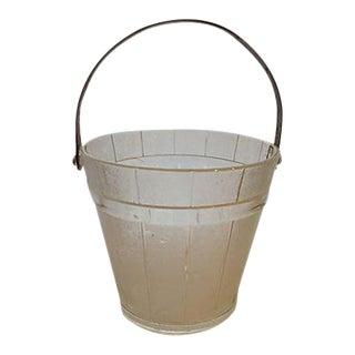 Mid-Century Glass Ice Bucket