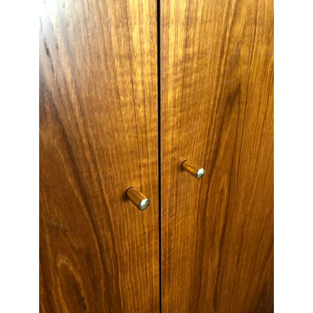 1980s 1980s Vintage Danish Teak Wood Armoire With Adjustable Shelving For Sale - Image 5 of 7
