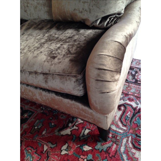 Hickory Chair Emory Sofa in Silver/Grey Velvet - Image 4 of 4