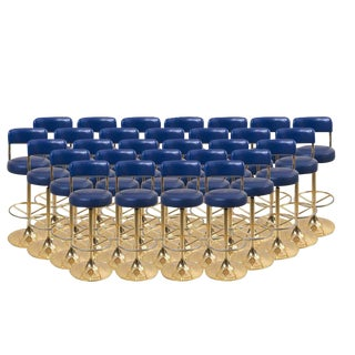 1 of 19 Brass Börje Johansson Bar Stools by Johansson Design For Sale