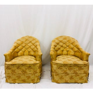 Pair Hollywood Regency Club Chairs Preview
