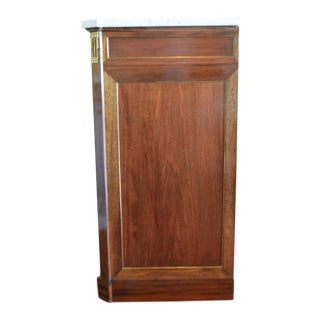 Directoire Style Mahogany Cabinet with Carrara Marble Top