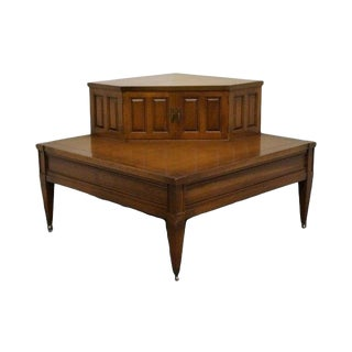20th Century Traditional Brandt Hagerstown MD Solid Cherry Corner Lamp/End Table For Sale