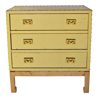 Brass Clad Chinoiserie Style Chest