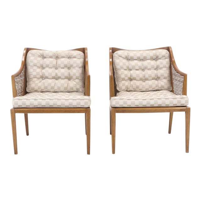 Pair of T. H. Robsjohn Gibbings for Widdicomb Arm Chairs For Sale