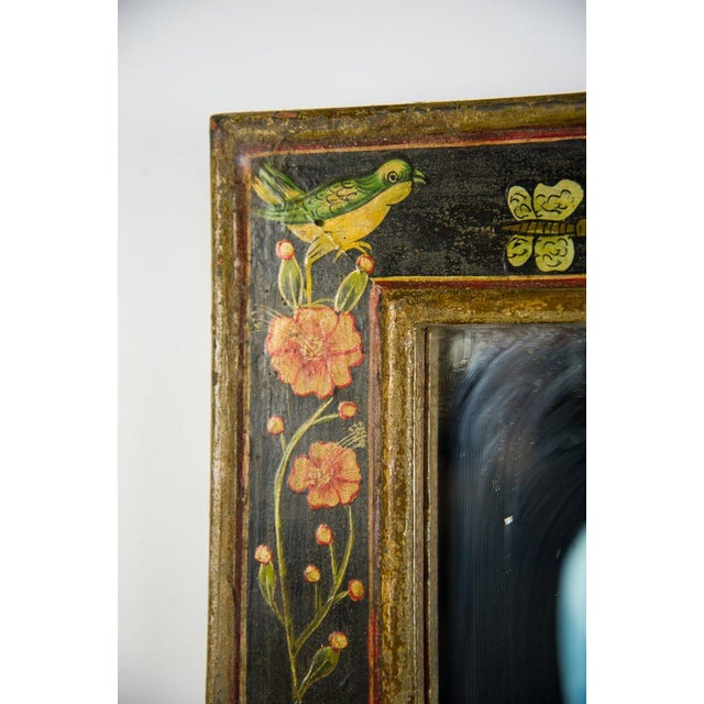 Celebrate the coming of Spring in vintage style with this Victorian style hand painted wall mirror. The hand painted motif...