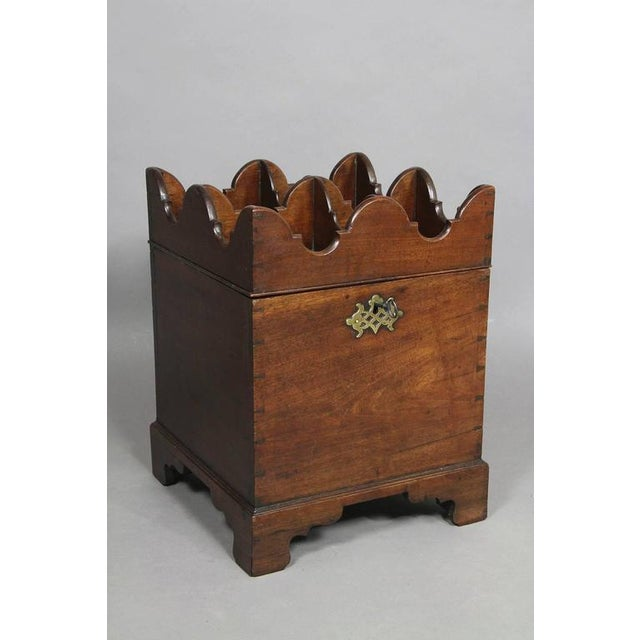 Brown George III Mahogany Ships Decanter Cellaret For Sale - Image 8 of 12