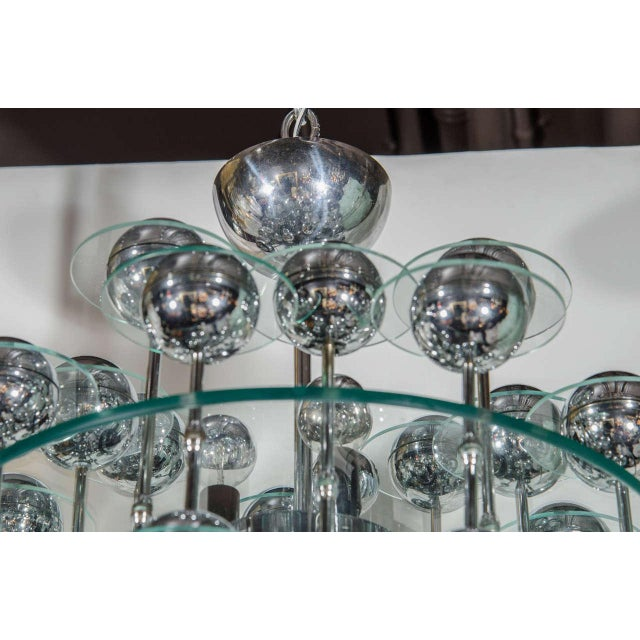 Mid-Century Modern Space Age Chandelier For Sale - Image 4 of 8
