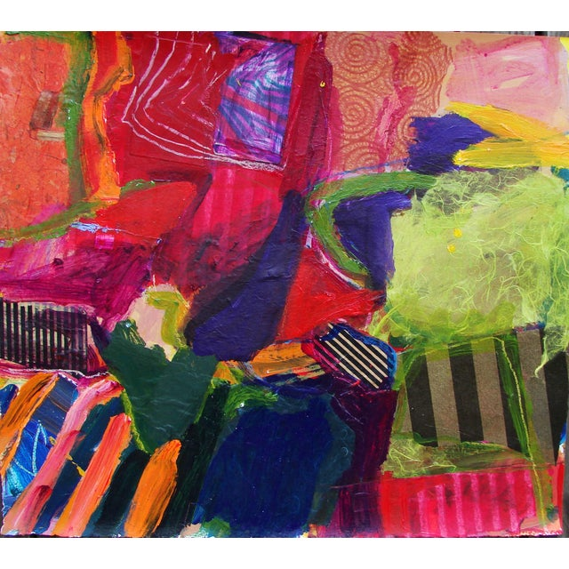 Abstract Still Life #3 Painting Collage For Sale