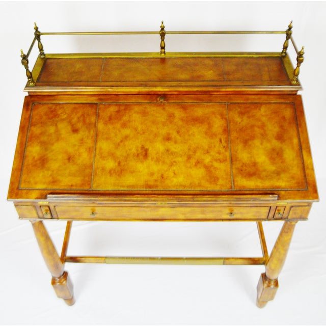 Vintage Thomasville Ernest Hemingway Desk & Chair Set For Sale - Image 5 of 10