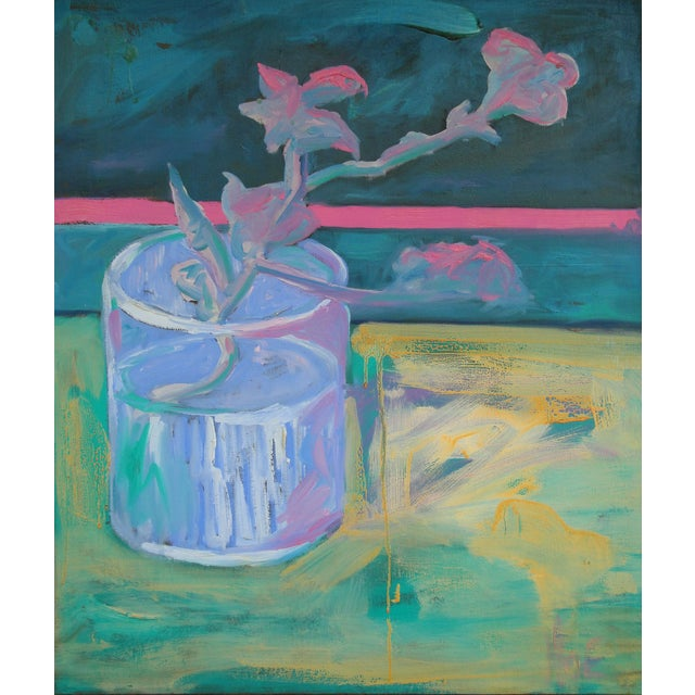 After Van Gogh: Glass With Flowering Almond Branch Painting - Image 1 of 2