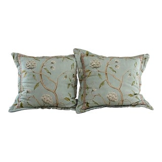 Cowtan & Tout Snow Tree Linen Euro Shams - A Pair For Sale