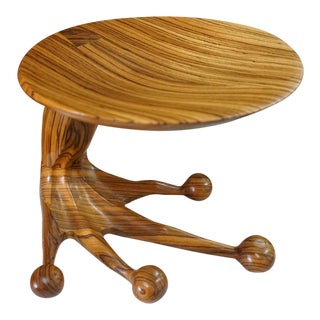 Zebrawood Stool by Tim Mackaness