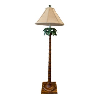 Vintage Palm Tree Floor Lamp by Sedgefield For Sale