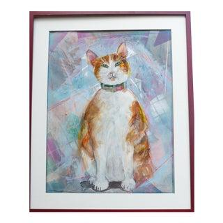 Darling Orange Kitty Animal Portrait For Sale