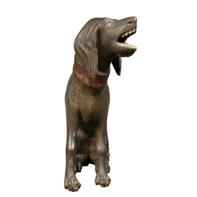 Unusual Painted and Carved Wood Dog For Sale - Image 4 of 10