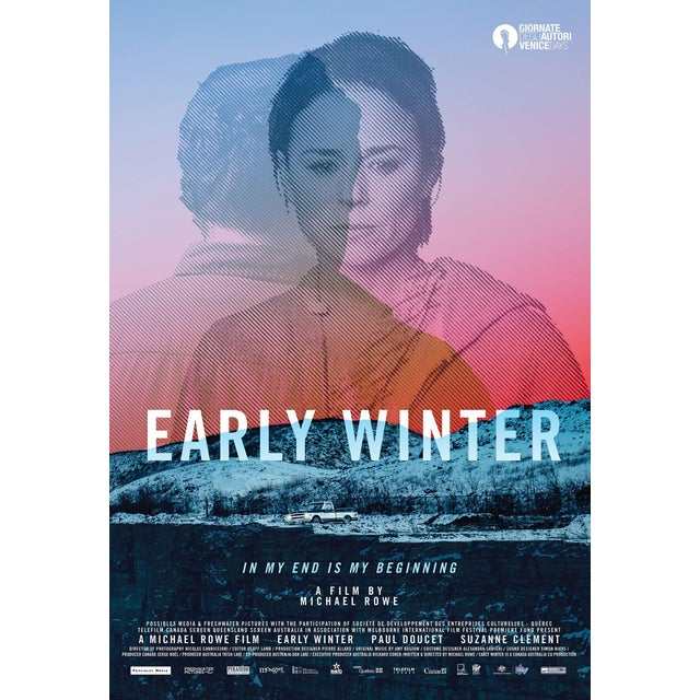 Contemporary 2015 Contemporary Movie Poster - Early Winter by Michael Rowe (On Beige-Coloured Paper) For Sale - Image 3 of 3