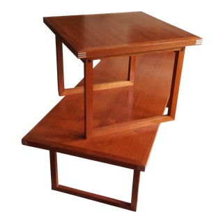 1960s Vintage Rud Thygesen for Heltborg Møbler Danish Modern Teak Coffee Table & End Table For Sale