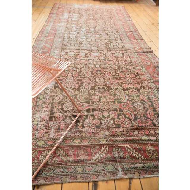 "Antique Distressed Karabagh Rug Runner - 5'4"" X 13' For Sale In New York - Image 6 of 13"