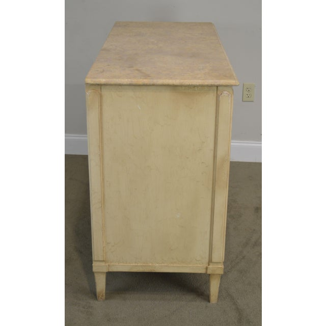 Hickory Chair Atelier Rustic Parchment Painted Marble Top Murano Chest of Drawers For Sale In Philadelphia - Image 6 of 13